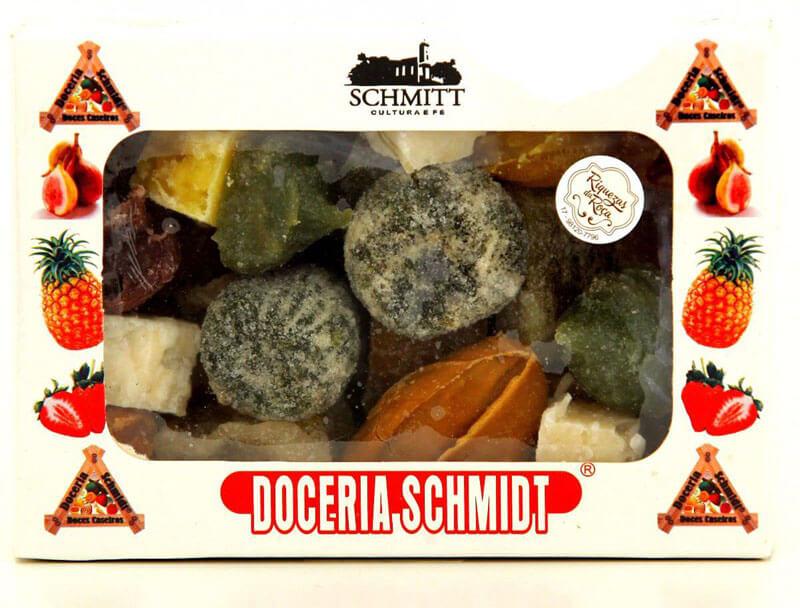 Caixa de doces caseiros sortidos doceria schmidt
