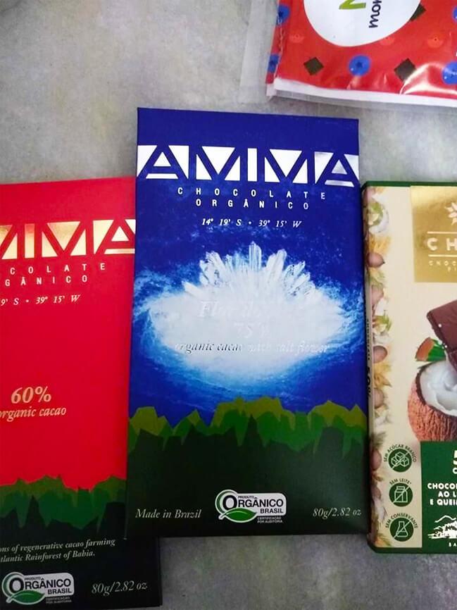 Chocolate com flor de sal da Amma Chocolates