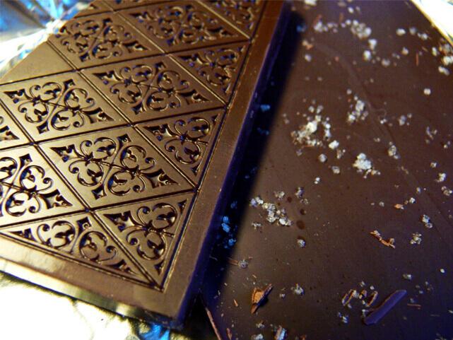 barra de chocolate com flor de sal