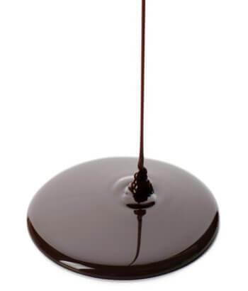chocolate templado derretido