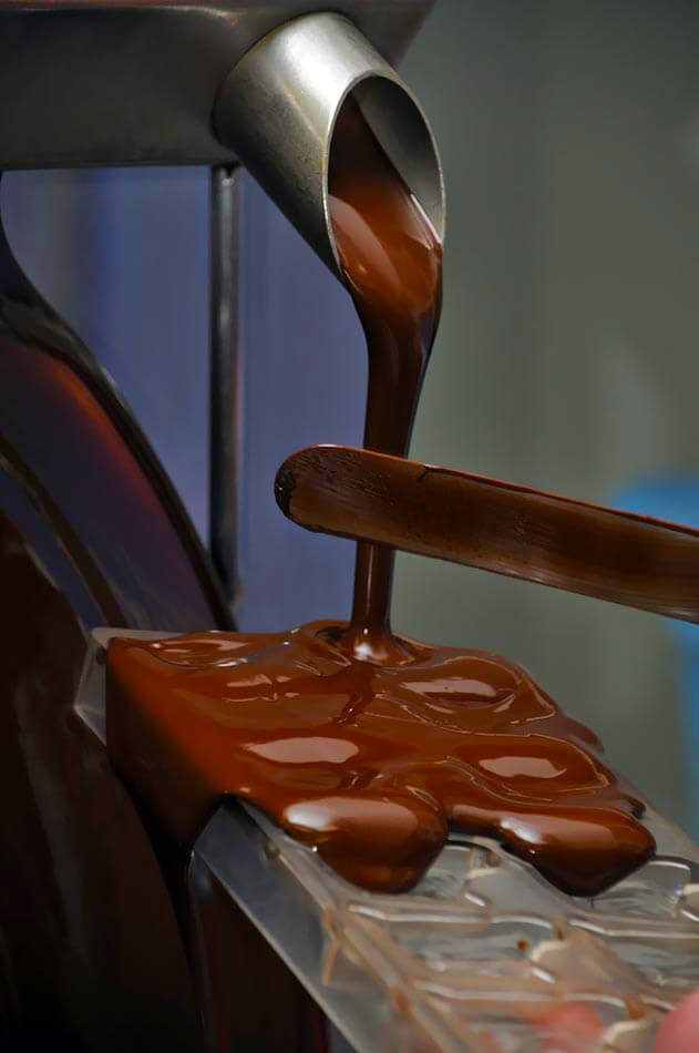 temperadeira de chocolate contínua