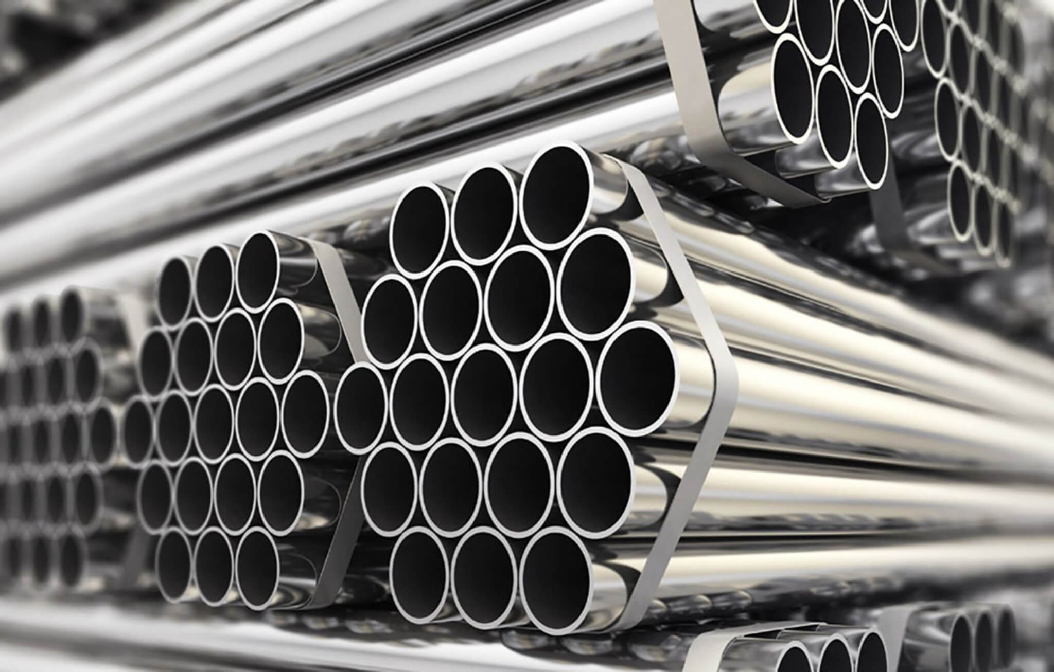 304 stainless steel tubes stacked